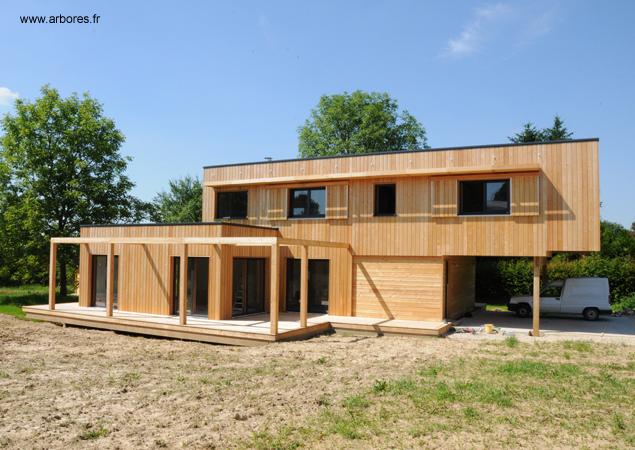 logements individuels sacet bourgogne ossature bois charpente cote d 39 or. Black Bedroom Furniture Sets. Home Design Ideas